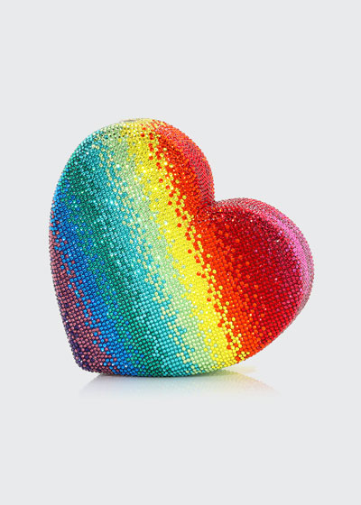 Heart Rainbow Clutch Bag