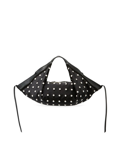 Pearl Luna Mini Studded Hobo Bag