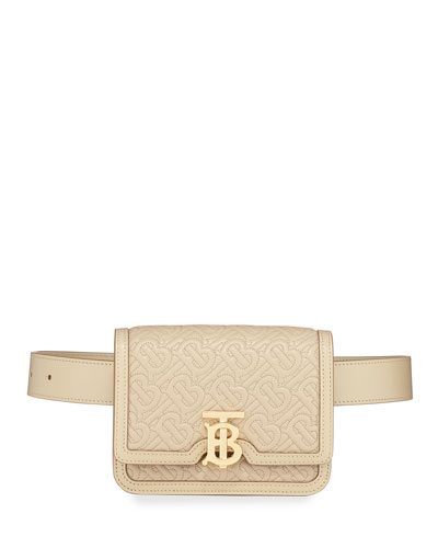 TB Monogram Quilted Leather Belt Bag