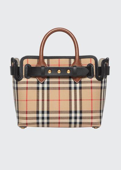 Baby Belted Vintage Check Satchel Bag