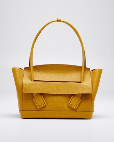 Medium Palmellato Leather Top-Handle Bag