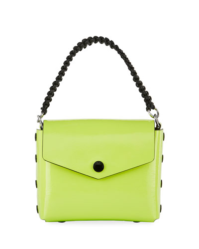 Atlas Patent Shoulder Bag, Bright Green