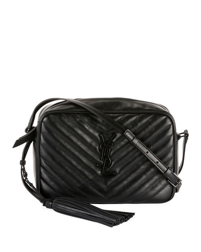 Lou Medium Monogram YSL Calf Crossbody Bag