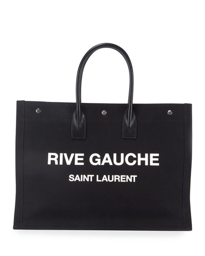 Rive Gauche Cabas Canvas Tote Bag