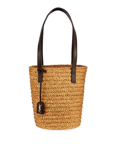 YSL Woven Raffia Tote Bag