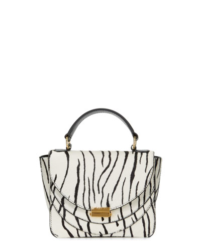 Luna Zebra-Print Mini Top-Handle Bag