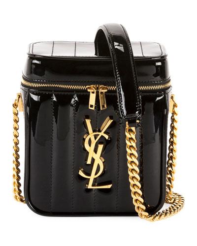 Vicky Shiny Calf Crossbody Bag