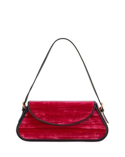 Uma Crushed Velvet Shoulder Bag