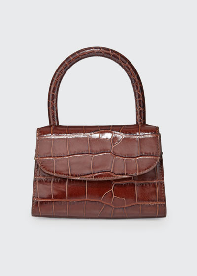 Mini Crocodile-Embossed Top-Handle Bag
