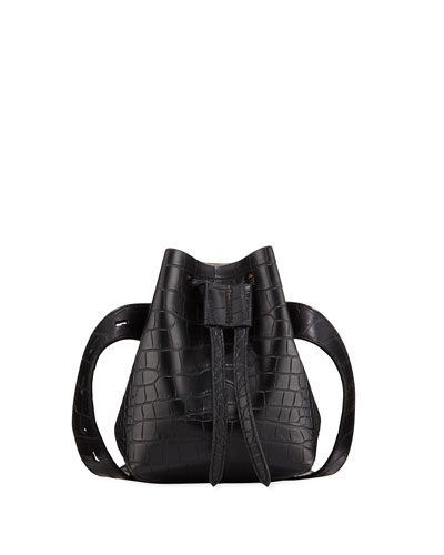 Crocodile-Embossed Belt Bag