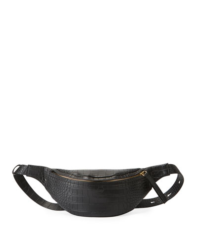 Croc-Embossed Lubu Belt Bag