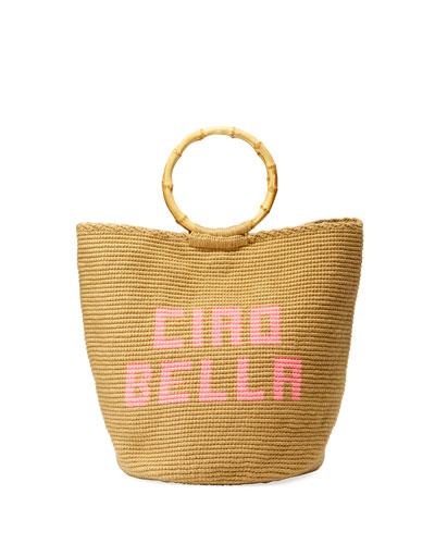 Ciao Bella Woven Ring-Handle Tote Bag