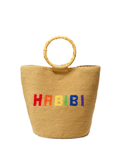 Rainbow Habibi Ring-Handle Tote Bag