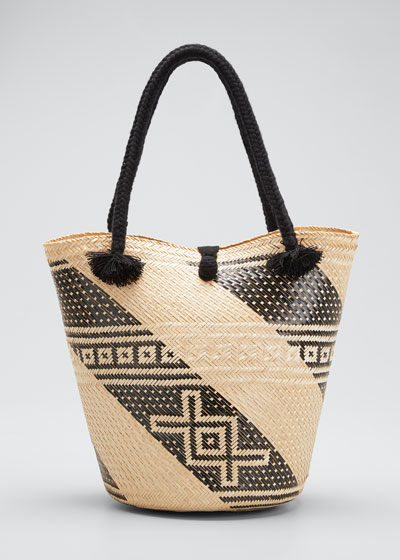 Augusta Woven Palm Tote Bag