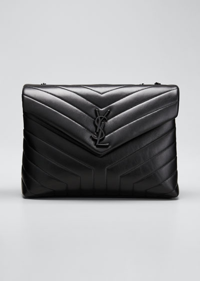 Loulou Medium YSL Monogram Matelasse Calfskin Shoulder Bag