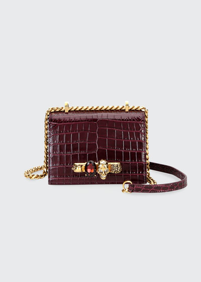 Jeweled Small Satchel Bag