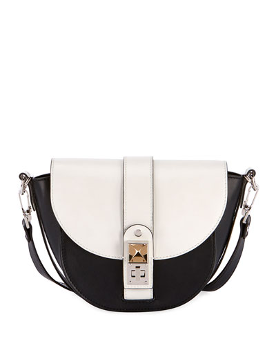 Ps1 Two-Tone Saddle Shoulder Bag