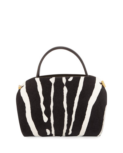 Nolo Baby Printed Calf Hair Top Handle Bag