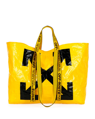New Commercial Tote Bag, Yellow/Black