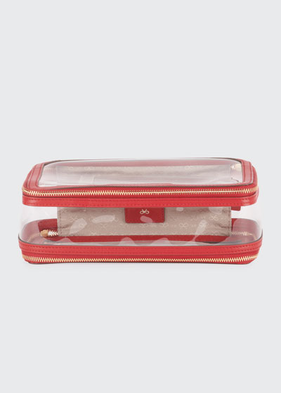 Inflight See-Through Cosmetics Bag, Red