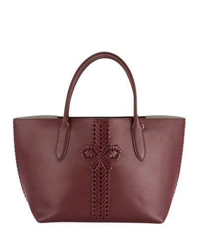 The Neeson Smooth Tote Bag, Burgundy