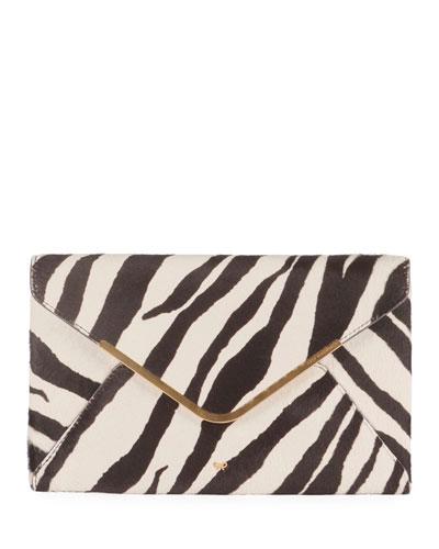 Postbox Zebra Envelope Clutch Bag