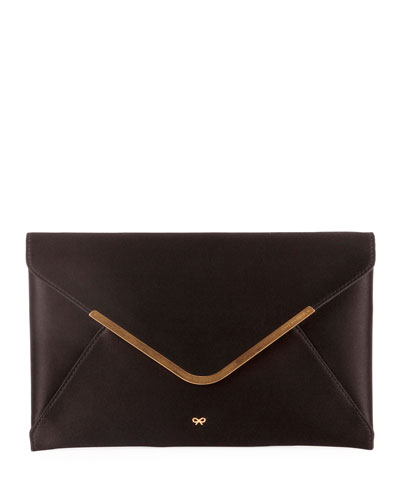 Postbox Satin Envelope Clutch Bag