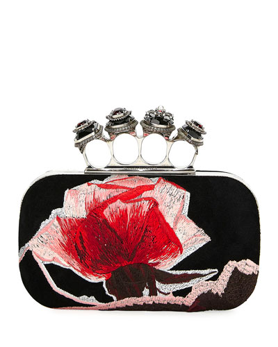 Jeweled and Embroidered Clutch Bag