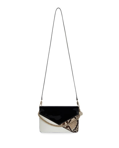 Cross3 Leather and Snakeskin Crossbody Bag