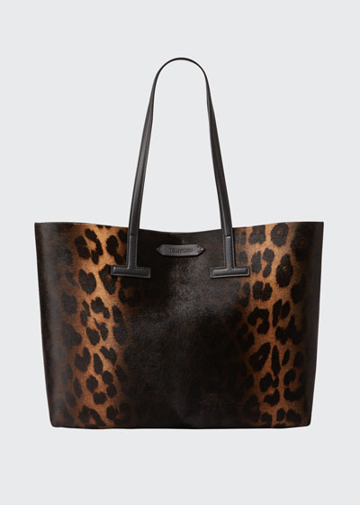 Small Leopard T Tote Bag