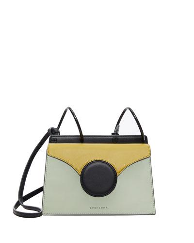 Mini Phoebe Colorblock Shoulder Bag, Green
