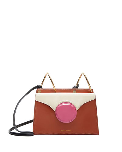Mini Phoebe Colorblock Shoulder Bag, Brown/Pink