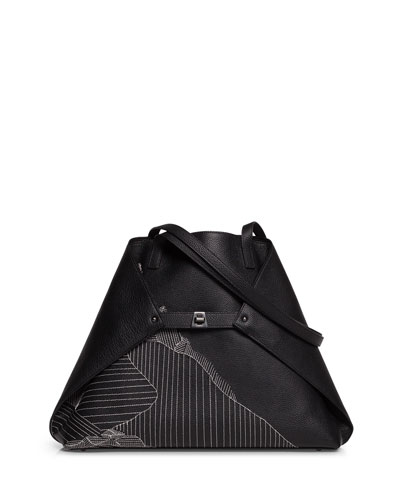 Ai Medium Leather Shoulder Bag