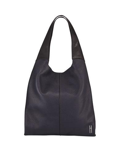 Grand Pebbled Shopper Tote Bag