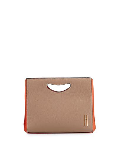 1712 Two-Tone Basket Clutch Bag
