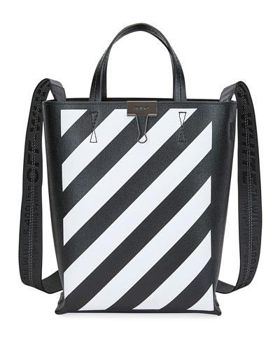 Diagonal Leather Tote Bag