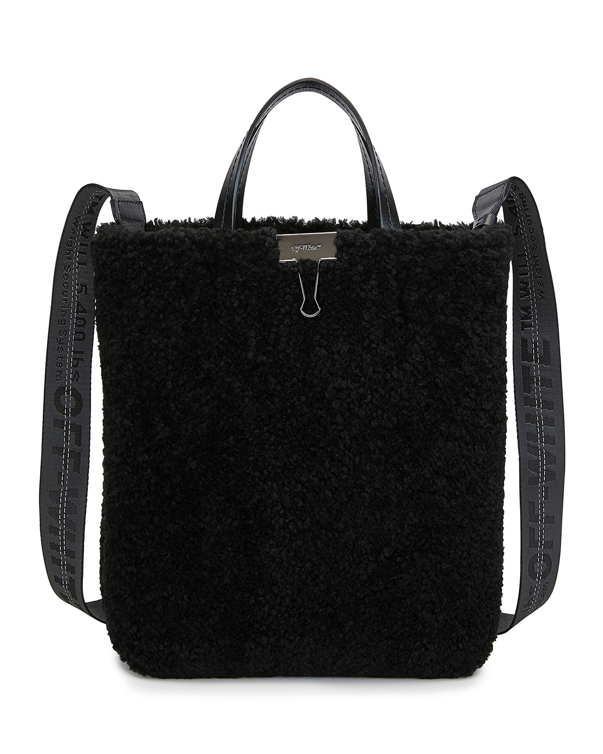 Off-White Totes MONTONE SHEARLING TOTE BAG