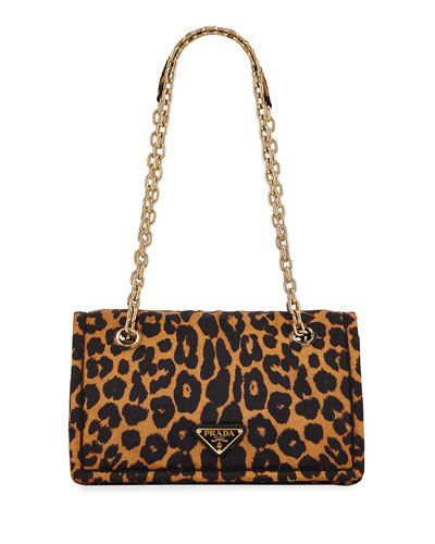 4c900994a4b8ac Leopard-Print Nylon Shoulder Bag Quick Look. Prada