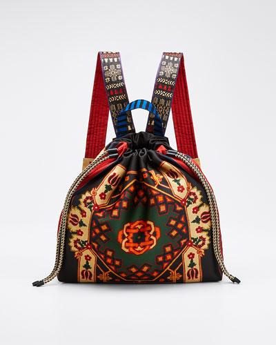 Neo Nomad Satin Drawstring Backpack