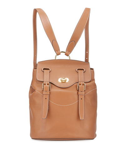 Soft Luxe Leather Flap-Top Backpack