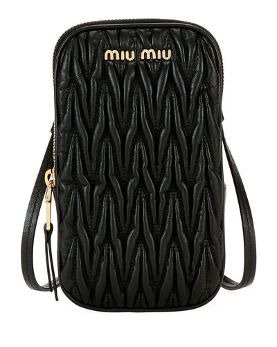 Matelasse Phone Crossbody Bag