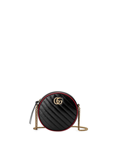 GG Marmont Mini Round Crossbody Bag