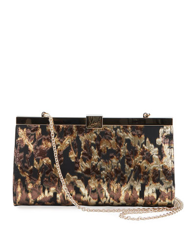 Palmette Small Lurex Tresor Clutch Bag