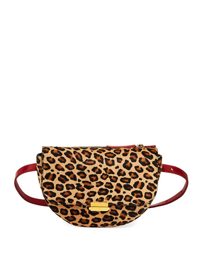 Leopard Big Anna Belt Bag