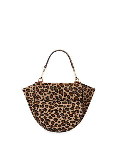 Hortensia Leopard Calf Mini Top Handle Bag