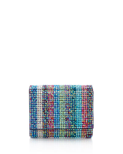 Fizzy Fullbead Multicolored Crystal Clutch Bag
