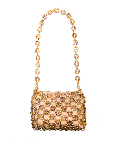 Capria Chain Shoulder Bag, Peach