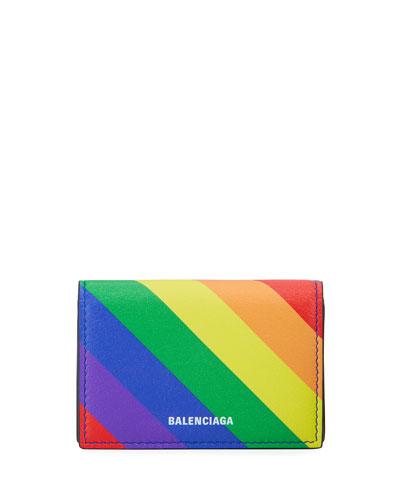 Ville Rainbow Leather Mini Wallet