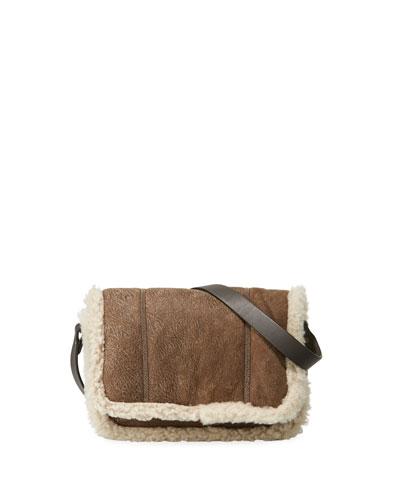Shearling-Lined Crossbody Bag