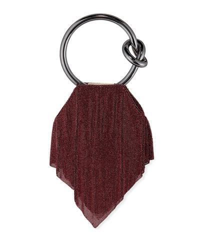 Casper Metal Mesh Clutch Bag, Dark Magenta/Rose